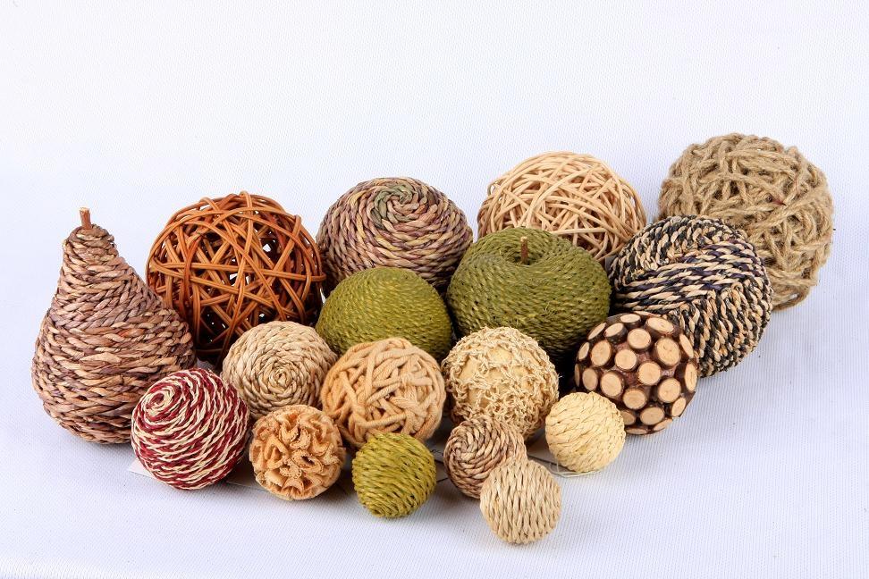 Natural Decorative Balls Adorable Natural Decorative Ballsnatural Materials Design Decoration
